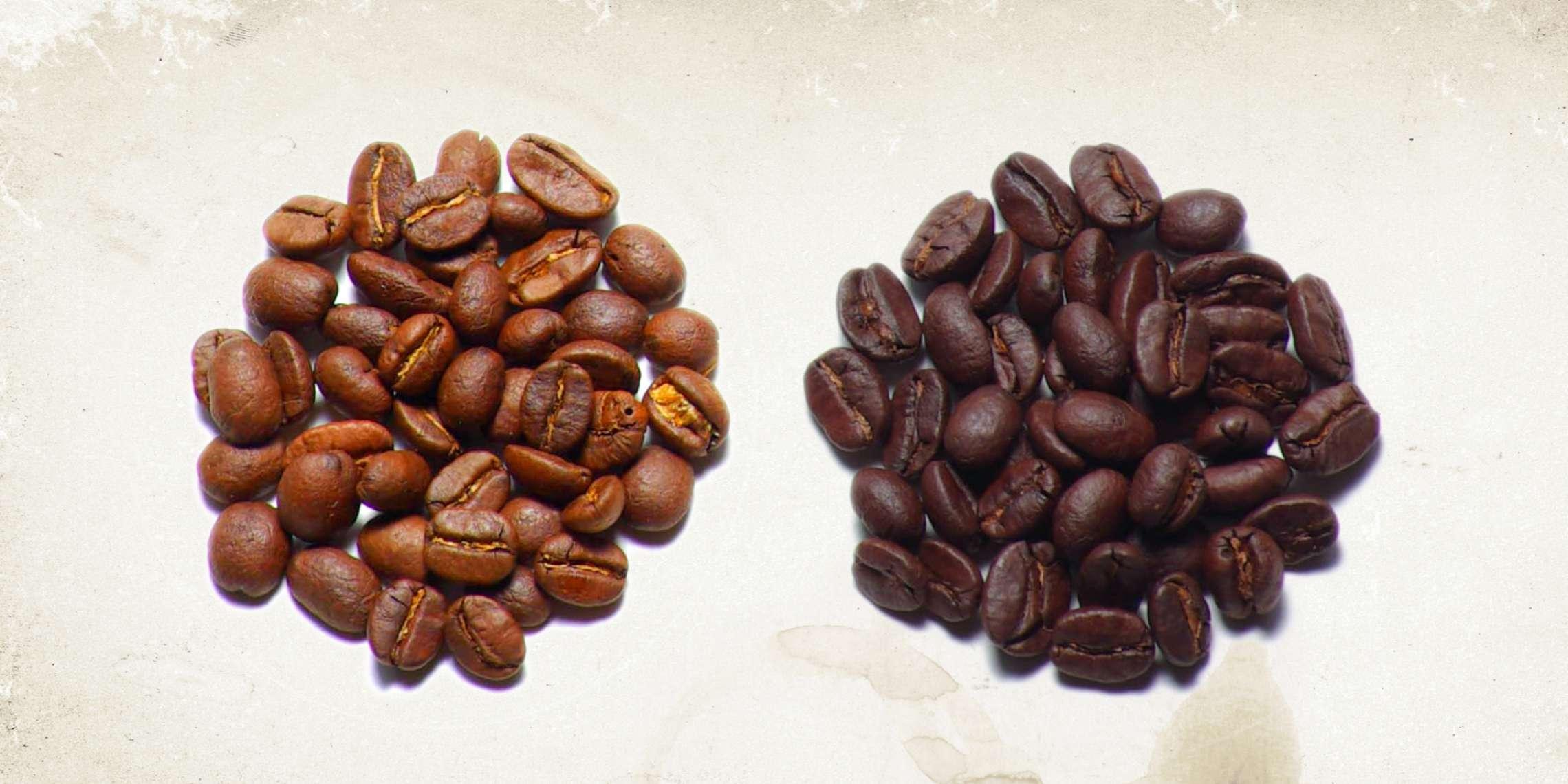 coffee beans vs espresso beans